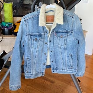 Levi's Fleeced Lined Denim Trucker Jacket